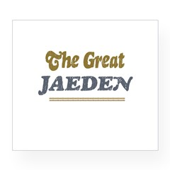 Jaeden Rectangle Wine Label