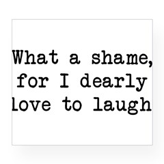 Dearly Love to Laugh Rectangle Wine Label