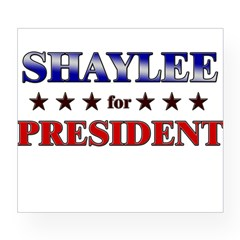 SHAYLEE for president Rectangle Wine Label