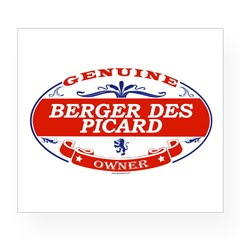 BERGER DES PICARD Oval Wine Label