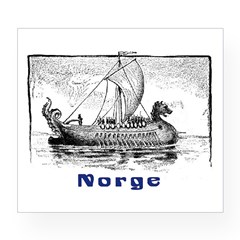NORGE Rectangle Wine Label