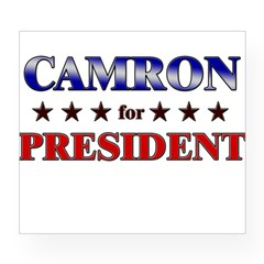 CAMRON for president Rectangle Wine Label