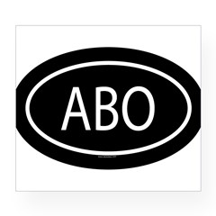 ABO Oval Wine Label
