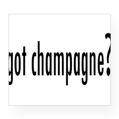 got champagne? Rectangle Wine Label