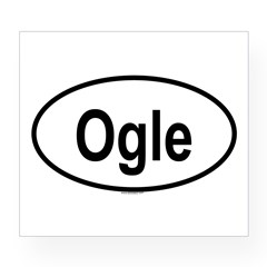 OGLE Oval Wine Label