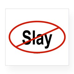 SLAY Oval Wine Label