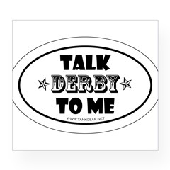 Talk Derby To Me 2 Oval Wine Label