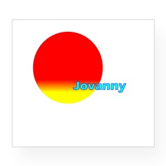 Jovanny Rectangle Wine Label