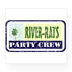 River Rat Rectangle Wine Label