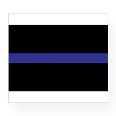 Thin Blue Line Rectangle Wine Label