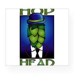 Hop Head Rectangle Wine Label
