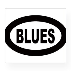 Blues Oval Wine Label