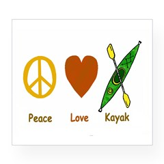 Peace,Luv,Kayak Wine Label