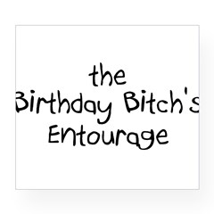 The Birthday Bitch's Entourage Rectangle Wine Label