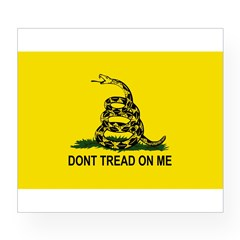Gadsden Flag Oval Wine Label