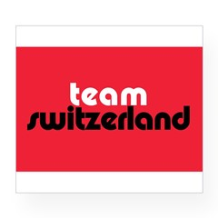 Team Switzerland Rectangle Wine Label