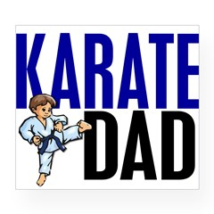 Karate Dad (OF BOY) 3 Rectangle Wine Label