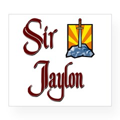 Sir Jaylon Rectangle Wine Label