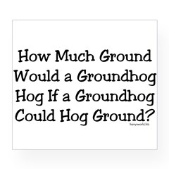 Groundhog Rectangle Wine Label