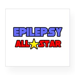"""Epilepsy All Star"" Rectangle Wine Label"