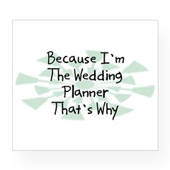 Because Wedding Planner Rectangle Wine Label