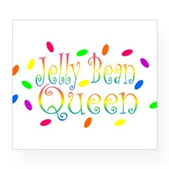 Jelly Bean Queen Rectangle Wine Label