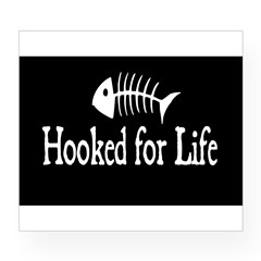 Hooked for Life Oval Wine Label