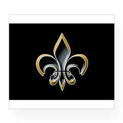 Fleur de Lis on BLK Oval Wine Label