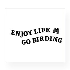 Enjoy Life Go Birding Wine Label