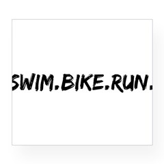 Swim. Bike. Run. Wine Label