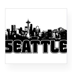 Seattle Skyline Wine Label