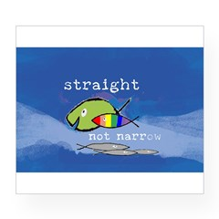 Straight But Not Narrow Oval Wine Label