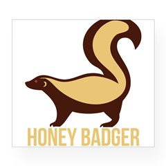Honey Badger BadAs Wine Label