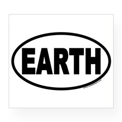 Earth Day EARTH Euro Oval Wine Label