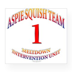 Aspie Squish Team Oval Wine Label