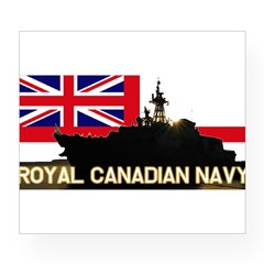 Royal Canadian Navy Rectangle Wine Label