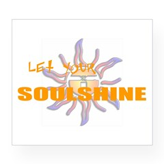 Let Your Soulshine Oval Wine Label