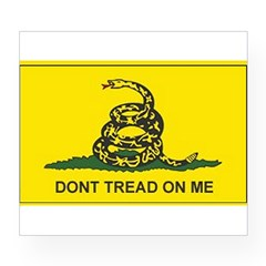 Gadsden Flag Rectangle Wine Label
