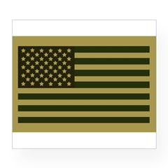 American Flag Sticker (Drab) Wine Label