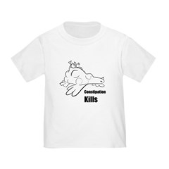 Constipation Kills! Sleeveless Chicken T-Shir Toddler T-Shirt