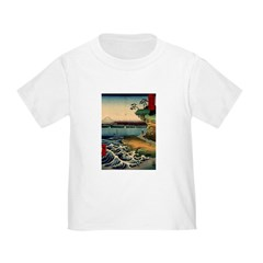 Japanese Ukiyo-e Mt. Fuji Toddler T-Shirt