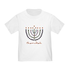 Chanukah Menorah Toddler T-Shirt