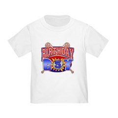 Baseball Boy 5th Birthday Toddler T-Shirt