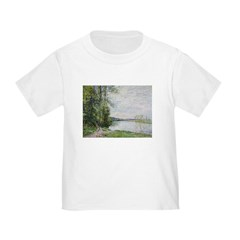 The Riverside Road from Veneux to Thomery by Alfre Toddler T-Shirt