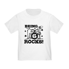Cute 6th Birthday Toddler T-Shirt