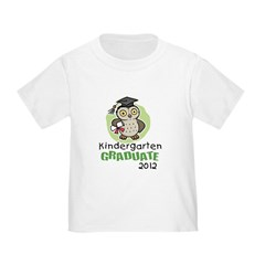 Kindergarten Graduate 2012 - Owl Toddler T-Shirt