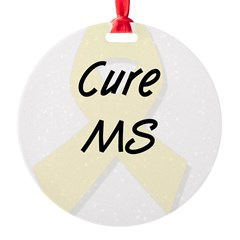Cure MS (pearl) Round Ornament