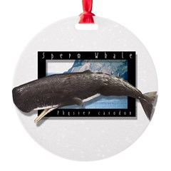 Sperm Whale Art Round Ornament