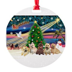 XmasMagic/5 Carins Round Ornament