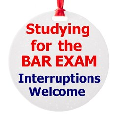 Bar Exam Round Ornament